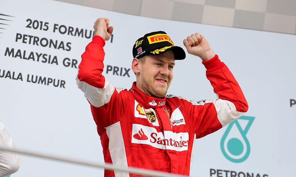 Sebastian Vettel, Ferrari, 2015 Malaysian Grand Prix