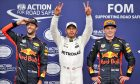 Top three in qualifying for the 2017 Italian Grand Prix