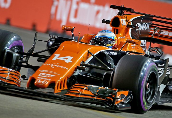 Fernando Alonso McLaren Singapore Grand Prix