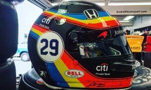 Alonso brings back Indy 500 helmet design for Austin!