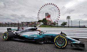 Hamilton tops rain-hit second practice in Suzuka
