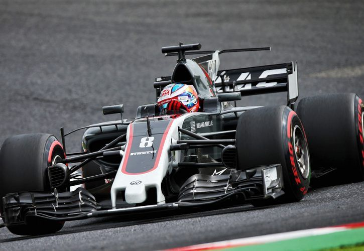 Romain Grosjean Haas F1 Team Japanese Grand Prix