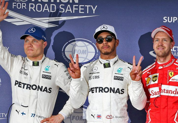 Valtteri Bottas, Lewis Hamilton, Sebastian Vettel - qualifying, Japanese Grand Prix
