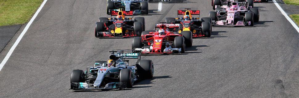 Start of the 2017 Japanese Grand Prix