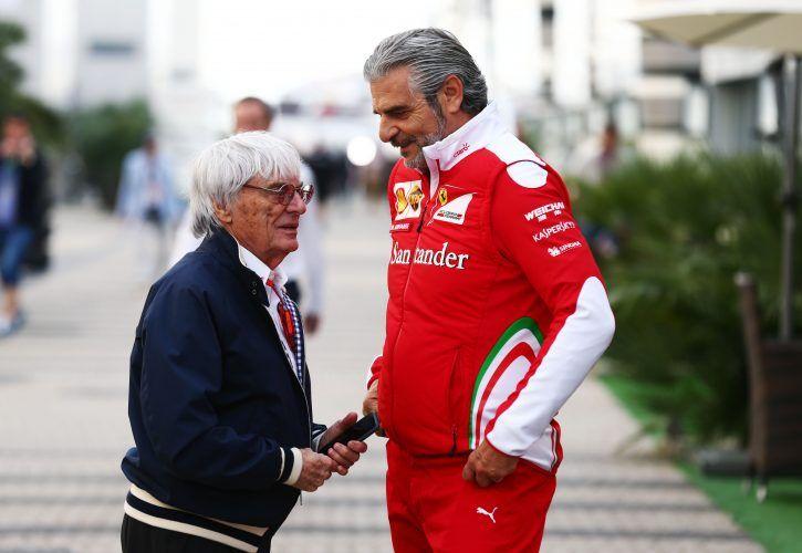 Bernie Ecclestone has reacted to Ferrari's threat to leave Formula 1