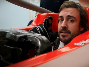 Alonso tries on his 2018 McLaren for size!