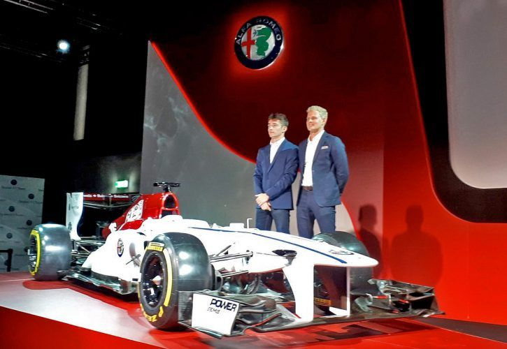 Sauber 2018 driver line-up Charles Leclerc and Marcus Ericsson, and the new Alfa Romeo car livery concept