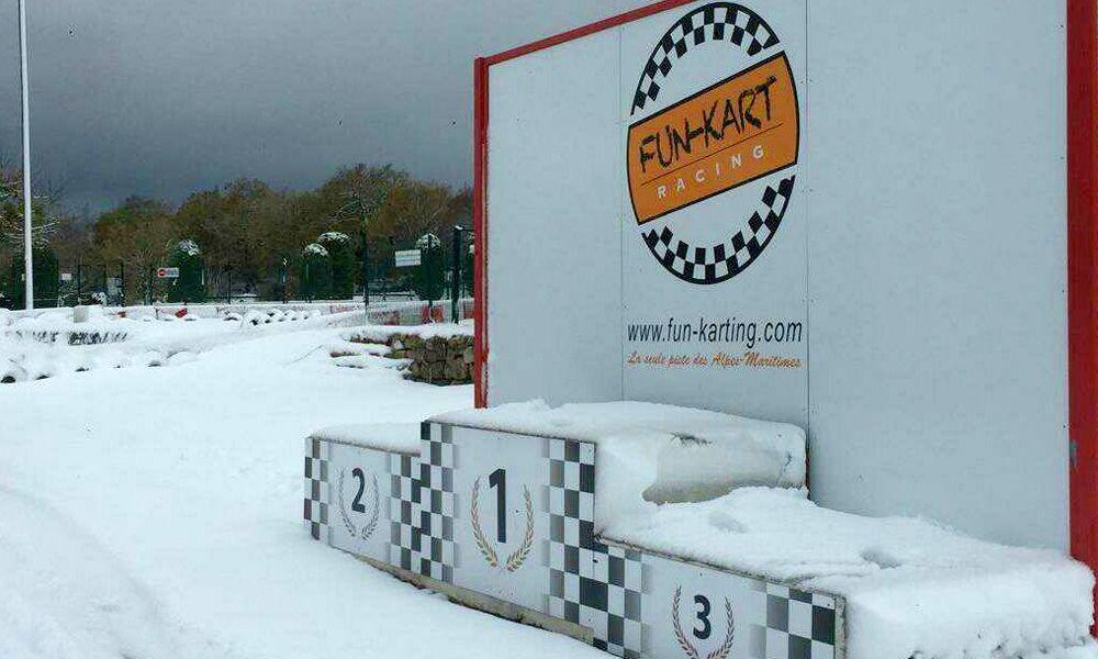 Alexander Wurz finds his local karting track snowbound