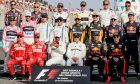 2017 season drivers group photograph, including world champion Lewis Hamilton