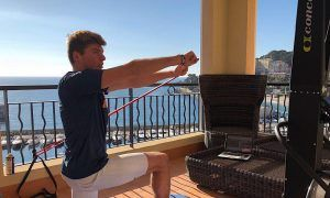 Verstappen 'maxed' out while training with a view
