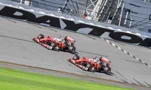 Formula 1 Ferraris cross the line at Daytona