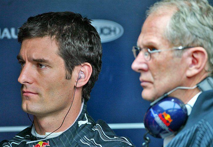 Mark Webber and Helmut Marko, Red Bull Racing