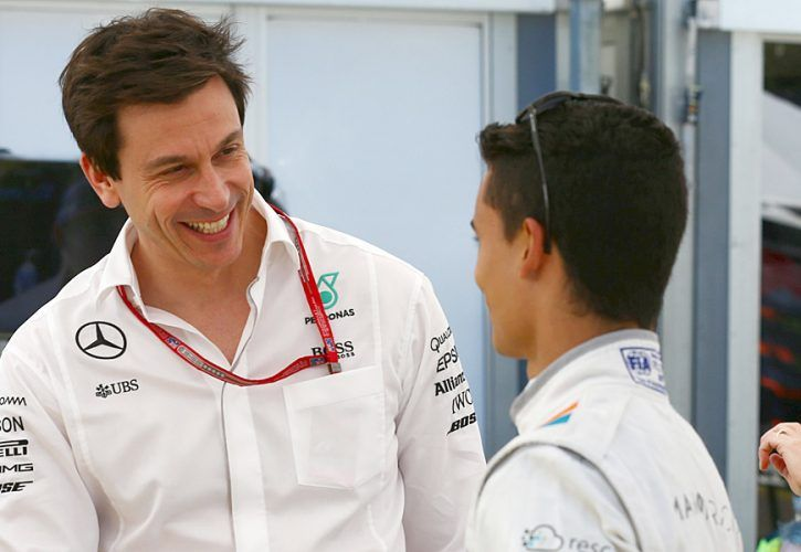 Toto Wolff (Mercedes) and Pascal Wehrlein (Manor), 2016 Australian Grand Prix