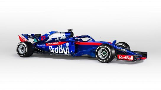 FAENZA, ITALY - FEBRUARY 22: Scuderia Toro Rosso STR13 - Car studio photo shooting (Photo by Guido De Bortoli/Getty Images for Scuderia Toro Rosso)