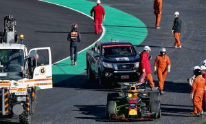 Verstappen's day interrupted by 'one small battery problem'