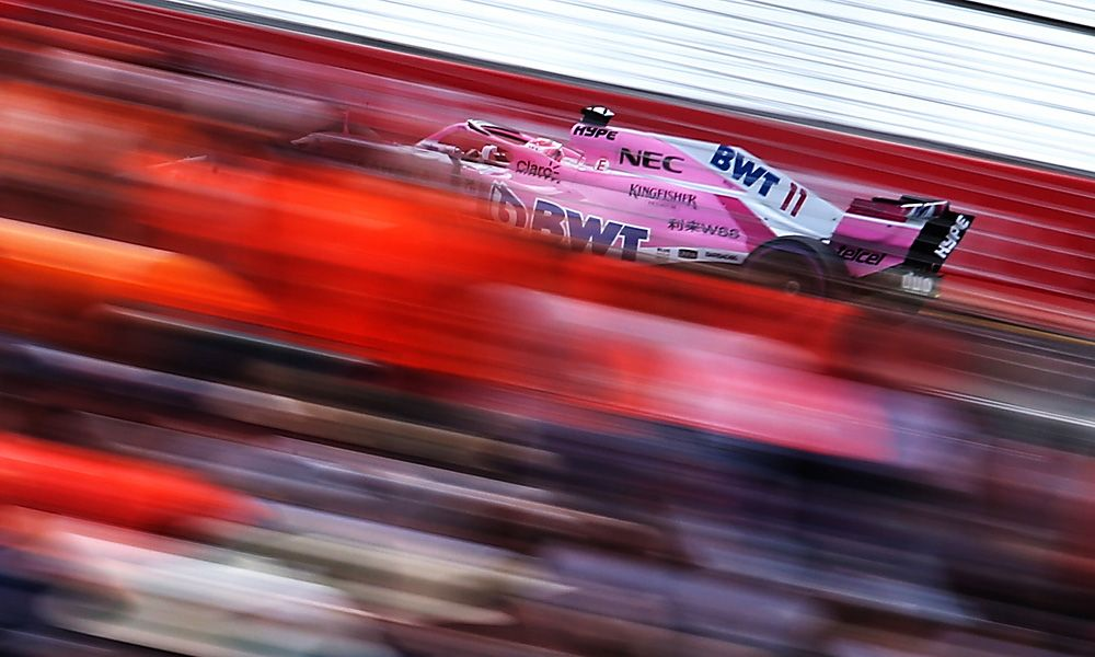 Sergio Perez (MEX) Sahara Force India F1 VJM11. 24.03.2018.
