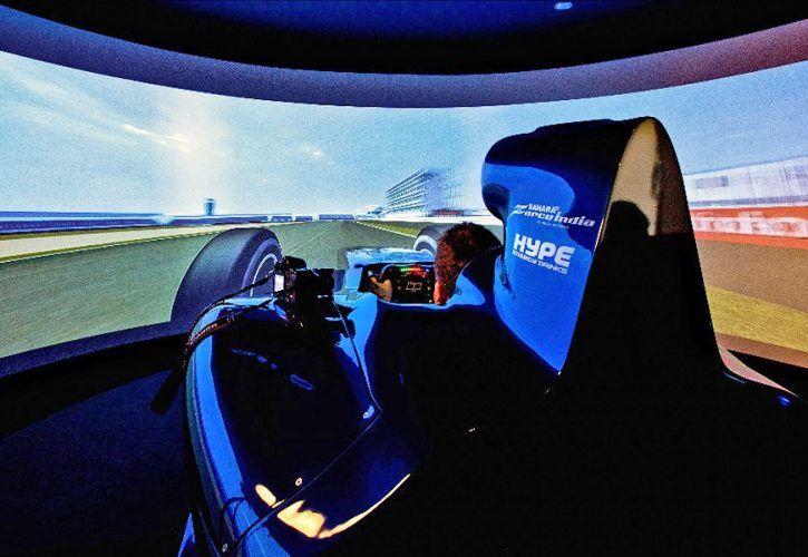 Hype Energy eForce India racing simulator