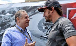 Jean Todt (FRA) FIA President with Fernando Alonso (ESP) McLaren