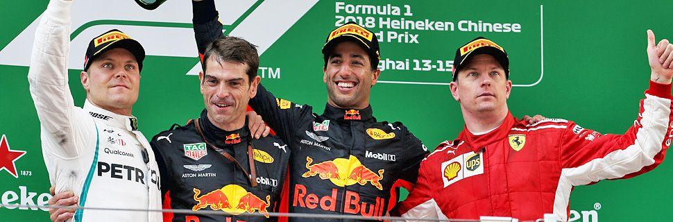 2018 Chinese Grand Prix - podium