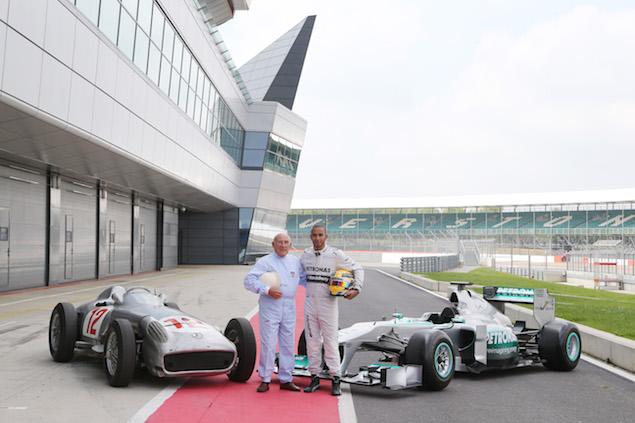 Motor Racing - MERCEDES AMG PETRONAS Formula One car and a  Mercedes-Benz W 196 photo shoot - Silverstone, England