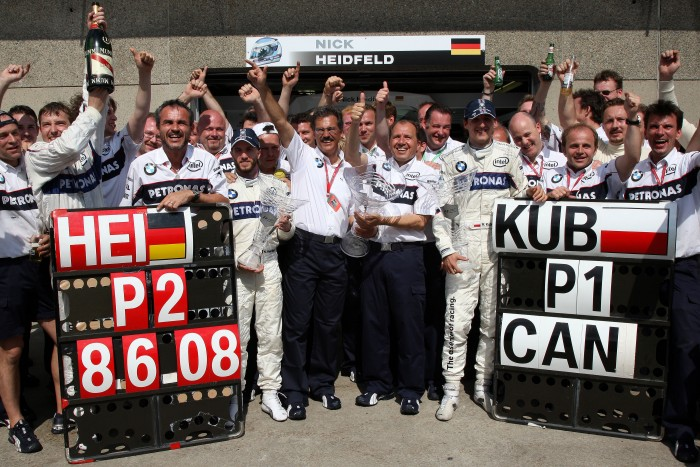Both Kubica and Sauber BMW scored their single F1 win at Montreal in 2008